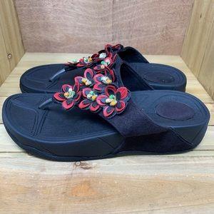 🌺 Metro Wear Wedge Sandals - Size 7